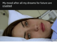 Future, Mood, and Dreams: My mood after all my dreams for future are  crushed  AŞK-I M