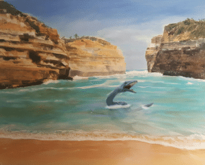 My mother-in-law and I are having a disagreement. She argues that she shouldnt paint dinosaurs in her landscapes, and I… well…: My mother-in-law and I are having a disagreement. She argues that she shouldnt paint dinosaurs in her landscapes, and I… well…