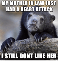 mother in law: MY MOTHER IN LAW JUST  HAD A HEART ATTACK  STILL DONT LIKE HER  made on imgur