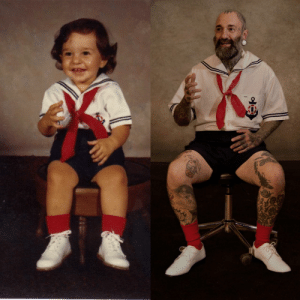 Funny, Old, and Mother: My mother made me the 2 year old outfit and the 39 year old outfit. via /r/funny https://ift.tt/2RLAr5Z