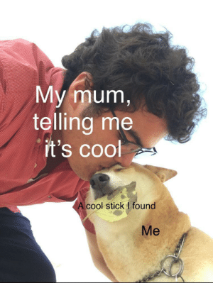 Not spooky but I thought I'd try: My mum,  telling me  it's cool  A cool stick I found  Me Not spooky but I thought I'd try
