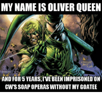 Memes, Queen, and Arrow: MY NAME IS OLIVER QUEEN  AND FOR 5 YEARS,IVE BEENIMPRISONED ON  CWSSOAPOPERAS WITHOUT MY GOATEE Just rewatched season 1 goodness of Arrow, ah, the good old days. - Hawkman arrow oliverqueen greenarrow cw dc