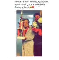 Omg how cute is this competition 😍🔥🙌🏼 @peopleareamazing @peopleareamazing @peopleareamazing: my nanny won the beauty pageant  at her nursing home and she is  flexing so hard Omg how cute is this competition 😍🔥🙌🏼 @peopleareamazing @peopleareamazing @peopleareamazing
