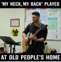 "Home, Old, and Back: 'MY NECK, MY BACK"" PLAYED  RINGO  AT OLD PEOPLE'S HOME"