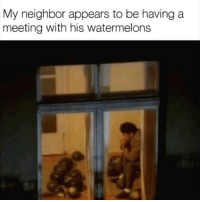 Ayy LMAO, Black Lives Matter, and Dank: My neighbor appears to be having a  meeting with his watermelons Ayy lmao - - - - - - - filthyfrank idubbbztv bleach altright conservative liberal tumblr gender islamaphobia meme dankmeme kawaii hentaii ecchii blm blacklivesmatter feminism feminist edgy cringe cringy funny dank brony cancer furry fursuit trump hillary