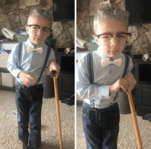 School, Day, and Nephew: My nephew on his 100th day of school