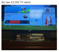 Memes, 🤖, and Play: My new £2,000 TV stand  PLAY CUP MATCH  CURRENT SEASON  HISTORY  PHYSICS  LEADERBOARDS Textbooks cost so much 😭😂