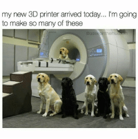 Memes, Today, and 🤖: my new 3D printer arrived today... l'm going  to make so many of these  @asleepinthemuseum please replace toner cartridge (rp @asleepinthemuseum 👈 follow follow follow!)