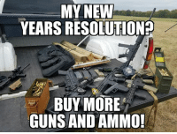 A toast to successful resolutions! And the hopes that Trumps administration will bring about lower prices for both!  Gun up, train and carry... always! Patrick James: MY NEW  YEARSRESOLUTION2  BUY MORE  GUNS AND AMMO! A toast to successful resolutions! And the hopes that Trumps administration will bring about lower prices for both!  Gun up, train and carry... always! Patrick James