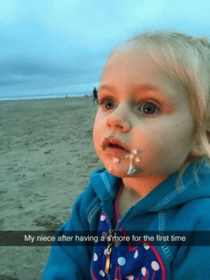stability:  via givemeyourpasta  This IS SO FUNNY: My niece after having a s'more for the first time stability:  via givemeyourpasta  This IS SO FUNNY