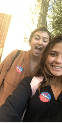 Memes, Jordan, and Time: My niece Hunter and her friend Jordan, voted for the first time in Cali!😚 https://t.co/cU1tRU8QKo