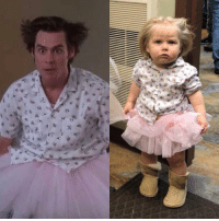Ace Ventura, Girl, and Hospital: My one year old girl as Mental Hospital Ace Ventura