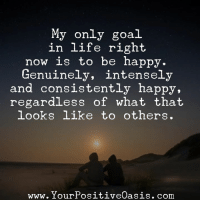4f01c06dc9 ... to others www. Your PositiveOasis. com · Memes, Consistency, and Be  Happy: My only goal in life right now is