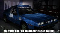 DeLorean: My other car is a Delorean Shaped TARDIS!
