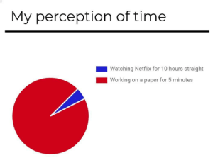 meirl: My perception of time  Watching Netflix for 10 hours straight  Working on a paper for 5 minutes meirl