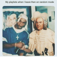 Irl, Me IRL, and Random: My playlists when I leave then on random mode Me irl