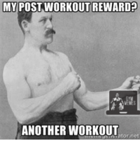 Post workout meal is another post workout. It's like workoutception.   Credit: Daniel Harker  Gym Memes: MY POST WORKOUT REWARD  ANOTHER WORKOUT  ator, net Post workout meal is another post workout. It's like workoutception.   Credit: Daniel Harker  Gym Memes