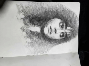 My quick sketch of Hermione Granger! This was done after rewatching the first film.: My quick sketch of Hermione Granger! This was done after rewatching the first film.