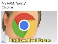download more ram: My RAM: *Exists*  Chrome:  ts tree Beal Estate