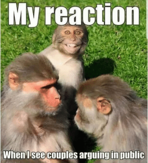 Funny Memes Of The Day 34 Pics: My reaction  When Isee couples arguing in public Funny Memes Of The Day 34 Pics