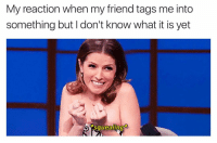 Girl, Funnypicture, and Squeal: My reaction when my friend tags me into  something but I don't know what it is yet  squealing What memes have you got for me today 👏🏼👏🏼👏🏼 . . . lol funny memes lmao comedy haha hilarious instagood humor fun love laugh textpost tumblr fail funnypictures epicfail smile cute cool happy wtf photooftheday selfie life funnymemes dankmemes friends dank picoftheday