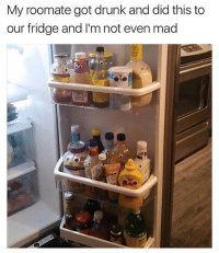 @_theblessedone is one of the greatest pages on IG hands down: My roomate got drunk and did this to  our fridge and I'm not even mad @_theblessedone is one of the greatest pages on IG hands down
