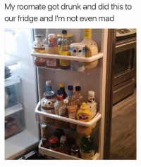 😂Damn: My roomate got drunk and did this to  our fridge and I'm not even mad 😂Damn