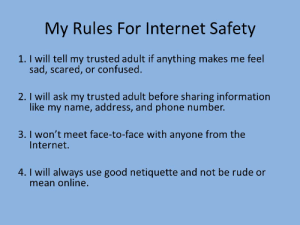 Rules of internet safety
