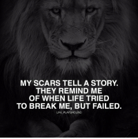 Memes, 🤖, and Scar: MY SCARS TELL A STORY.  THEY REMIND ME  OF WHEN LIFE TRIED  TO BREAK ME, BUT FAILED.  LIFE PLAYGROUND Whether you know it or not, we all have scars... scars are not always visible, but internal, and it's those internal scars that have us hurt the most. Anytime you have failed, had problems, depressions, let downs or traumatic experiences, those are all internal scars. They have all made you into the person you are today.... and you can either choose to let those problems control you and cry about them forever or you can EMBRACE your troubles and use them to make you a stronger person. It's all about your perception... just know that it's during those down moments that define you. lifeplayground