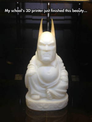 srsfunny:Why So Enlightened?: My school's 3D printer just finished this beauty... srsfunny:Why So Enlightened?