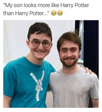 "Daniel Radcliffe went from Harry Potter to new phone who dis? (@_theblessedone): ""My son looks more like Harry Potter  than Harry Potter Daniel Radcliffe went from Harry Potter to new phone who dis? (@_theblessedone)"