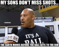 Nba, Earth, and Thomas: MY SONS DON'T MISS SHOTS  MEN  GLENN E. THOMAS  waaaEACH  NBAMEMES  ITS A  ATV  THE EARTH MOVESBEFORE THE BALL GETS TO THE RIM Lavar's sons don't miss!