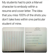 Anaconda, Instagram, and Memes: My students had to pick a Marvel  character to embody within a  resume and cover letter. The idea  that you miss 100% of the shots you  don't take lives within one particular  student of mine.  Address I am groot  Email i am groot  Phone number i am groof  I am Groot, I am Groot, 1 am Groot, I am Groot, I am Groot, I am Groot, 1 am Groot, I am Groot  I am Groot, I am Groot, I am Groot, I am Groot, I am Groot, I am Groot, I om Groot, I am Groot.  ㄧ迮in Groot, l (In Groot, l ㎜ Groot, l am Groot, ' am Groot, i am Groot, ' 0m Groot, 1 am Groot  am Groot,1 am Groot, Iam Groot, I am Groot, I am Groot, Iam Groot, I am Groot, I am Groot  am Groot, I am Groot, I am Groot, I am Groot, am Groot,Tam Groot, I am Groot, I am Groot  l an Groot l am Groot, l am Groot,I am Groot, l am Groot 1 am Groot, i am Groot, i an Groot  I am Groot,I am Groot, I am Groot, I am Groot, I am Groot, I am Groot, I am Groot, 1 am Groot  : an Groot, 1 am Groot, l 0m Groot, i am Groot.เ 0m Groot, i am Groot, l am Groot, l am Groot  I am Groot, I am Groot, I am Groot, I am Groot, 1am Groot,1m Groot, 1om Groot, I am Groot  : 0m Groot, l am Groot l am Groot, i am Groot, l 0m Groot l tm Groot, I ftm Groot, i am Groot  am Groot, I am Groot, I am Groot, I am Groot, I am Groot, I am Groot, I am Groot, I am Groot.  I am Groot, I am Groot, I am Groot. I am Groot, I am Groot, I am Groot, I am Groot, I am Groot  I am Groot, I am Groot, I am Groot, Iam Groot, Iam Groot, I am Groot, I om Groot, 1am Groot  I am Groot, I am Groot, I am Groot, I am Groot, I am Groot, I am Groot, I am Groot, I am Groot  I am Groot, I am Groot, I am Groot, I am Groot, I am Groot, 1 am Groot, I am Groot, I am Groot  i am Groot, l am Groot, 1 am Groot, i am Groot, i am Groot, i am Groot, l am Groot, i am Groot  I am Groot, I am Groot, I am Groot. I am Groot, I am Groot, I om Groot, I am Groot, I am Groot  I am Groot, I am Groot, I am Groot, I am Groot, I am Groot, I am Groot, I am Groot, I am Groot  l am Groot, I am Groot, I am Groot, I am Groot. I am Groot, I am Groot, I am Groot, I am Groot  1 am Groot, l am Groot, i ㎜ Groot, l am Groot, l am Groot. am Groot, l am Groot, i am Groot  i am Groot, ' Ein Groot un Groot, ' am Groot, l am Groot,I am Groot, i an Groot, l dun Groot  1 am Groot, I am Groot, I am Groot, I am Groot, I am Groot, I am Groot, I am Groot, I am Groot  I om Groot, I am Groot. I om Groot, I am Groot, I am Groot, I am Groot, I am Groot, I am Groot  I am Groot, I om Groot, 1 am Groot, I am Groot, I am Groot, I am Groot, I am Groot, I am Groot  i ИП Groot, am Groot, i 0m Groot, ' nm Groot, l am Groot, i am Groot, i am Groot, i am Groot  : om Groot, l om Groot,丨0m Groot, 1 am Groot, l am Groot, i am Gloot, i am Groot, ' am Goot  I am Groot, I am Groot I am Groot, I am Groot, I am Groot, I am Groot, I am Groot, I am Groot  I am Groot, I om Groot, I am Groot, I am Groot, I am Groot, I am Groot, I am Groot, I am Groot  ' om Groot, i an Groot. ' am Groot, l 0m Groot, am Groot, am Groot, l am Groot ' am Groot  I am Groot, 1om Groot, I am Groot, Jam Groot, Ii am Groot am Groot, Jam Groot, I am Groot  Objective: I AM GROOT  Experiences or skills: I AM GROOT, I AM GROOT, I AM GROOT  Activities: I AM GROOT, I AM GROOT LAM GROOT  List Your Education: I AM GROOT I AM GROOT  List Any Awards You've Won and When You Won Them: I AM GROOT, I AM GROOT  List Your Personal Interests: I AM GROOT 💨 @hitsblunt is the funniest hits blunt page on Instagram! 👺😂