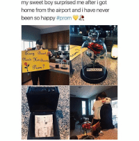 Girl, Beast, and Sweets: my sweet boy surprised me after i got  home from the airport and i have never  been so happy  #prom  very Beast  Prom? THESE PROMPOSALS THE CUTEST THING IVE EVER SEEN