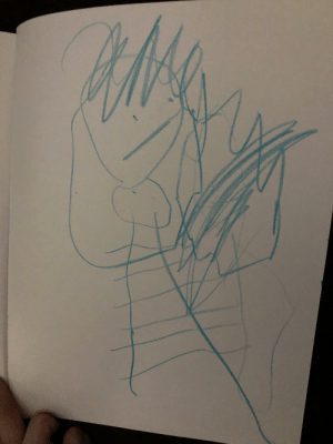 My three and half year old drew this and said that's me, it may not be the best picture ever but I'm so proud of her!: My three and half year old drew this and said that's me, it may not be the best picture ever but I'm so proud of her!