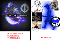 Crush, Trap, and Spirit: MY TRAP QT  ANTIFUN  CRUSH THE SINNERS  nothin personne  Longswords are not manly  and ra  scholagladiatoria  ,150 views 2 years  5:05  not  un-manly  HOW DARKMOON  BLADES SEE  THEMSELVES  THE REALITY