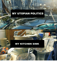 Slavic, Kitchen, and Sink: MY UTOPIAN POLITICS  MY KITCHEN SINK