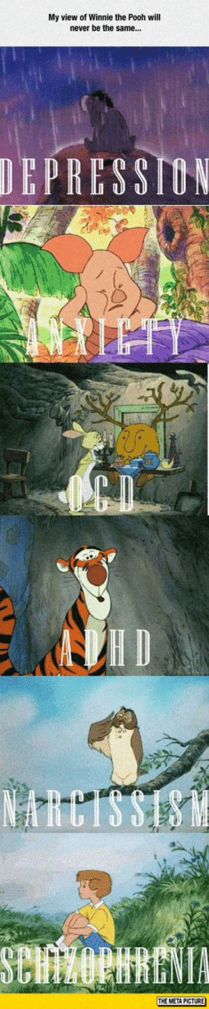 Tumblr, Winnie the Pooh, and Blog: My view of Winnie the Pooh will  never be the same...  DEPRESSION  ID  NRCTS SISM  SClvorhENTA  THE META PICTURE srsfunny:  The Truth Behind Winnie The Pooh