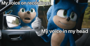 Pretty accurate: My voice on recordings  My voice in my head Pretty accurate