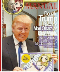 """Every black person acts like young thug everyday of the year but when a black person dies they become MLK and Malcolm X its sad lmao: My.  Waifu  Donald  Mari Ohara as  """"Rich, White,  Looks Like  My Daughter""""  -Donald Trump Every black person acts like young thug everyday of the year but when a black person dies they become MLK and Malcolm X its sad lmao"""