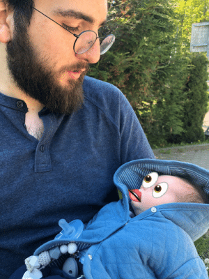 My wife doesn't want our newborn son's face posted on social media, so she asked me to censor over it. Needless to say, I won't be asked to do that again.: My wife doesn't want our newborn son's face posted on social media, so she asked me to censor over it. Needless to say, I won't be asked to do that again.