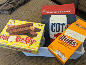 My wife gave me a care package after my vasectomy.: My wife gave me a care package after my vasectomy.