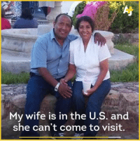 """Memes, Arizona, and Immigration: My wife is in the U.S. and  she can't come to visit. """"Roberto lived in Tucson for 15 years and was recently deported to Mexico. This is his story. President Trump has issued executive orders to aggressively find and remove undocumented immigrants. @DenaTakruri traveled across the border to Mexico to see what the recently deported face on the other side."""" Repost @ajplus ajplusrevideo undocumented immigration deported mexico eloy phoenix arizona trumpsamerica immigrants"""