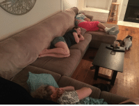 My wife loves to take a nap whenever possible. Her mom and grandma came to town to visit and now I can see where she gets it from!: My wife loves to take a nap whenever possible. Her mom and grandma came to town to visit and now I can see where she gets it from!