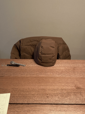 My wife sent me this picture while I was at work to tell me my jacket was depressed: My wife sent me this picture while I was at work to tell me my jacket was depressed