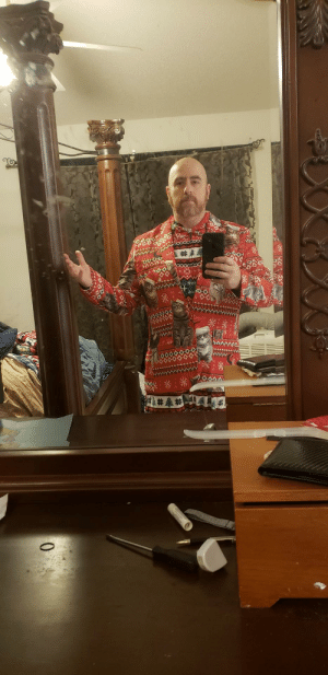 My wife told me to get dressed up for professional Xmas photos Think I nailed it.: My wife told me to get dressed up for professional Xmas photos Think I nailed it.