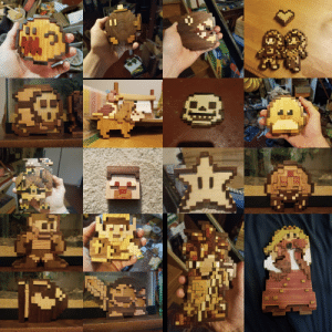 My wooden pixel art, all handmade. Last post dissapeared, idk why. Here it is again!: My wooden pixel art, all handmade. Last post dissapeared, idk why. Here it is again!