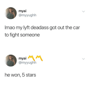 He got them hands. by Nasjere MORE MEMES: myai  @myyughh  Imao my lyft deadass got out the car  to fight someone  myai  @myyughlh  he won, 5 stars He got them hands. by Nasjere MORE MEMES