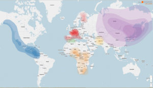 lol-coaster:What is the Ancestral Origins DNA test?: myORIGINS  Russia  DenmarkLichuania  Canada  UK  HR Romania  BA RS  United States  PT Spain  Greece Turkey baijan Uzbekistan  South Korea japan  China  MoroccoTunis  Iran ighanista  Algeria  Nepal Bhutan  Libya Egypt  Saudi Arabia  Taiwan  Mexico  India Bangadesh  Oman  Mautanal  Niger chad  Cape Verde  EritreaYemen  Sudan  Nigeria  African South Sudan Ethiopla  Serra Lone hvory  Camereon Republic  LiberiaGhana  Malaysia  GabonRepublic  of the Cong  Papa Newsolomen  Peru  Brazil  ola zambia  Bolivia  Namibia BW  South  Africa lol-coaster:What is the Ancestral Origins DNA test?