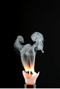 Ghost, Faces-In-Things, and Light: Mysterious triumphant ghost caught in a broken light bulb https://t.co/1RjEgttVfa